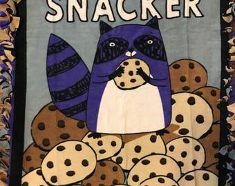 Midnight Snacker Cookie Fleece Tie Blanket