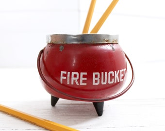 Unique Fire Bucket Ashtray Cauldron