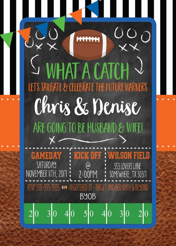 Tailgate Couples Shower Invitation