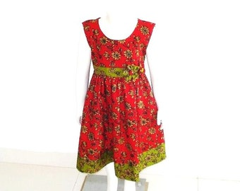 Girls Dress Sewing Pattern, INSTANT DOWNLOAD, Pdf Pattern, Vintage Style, Carolyn Summer Dress, Scoop Neck Dress
