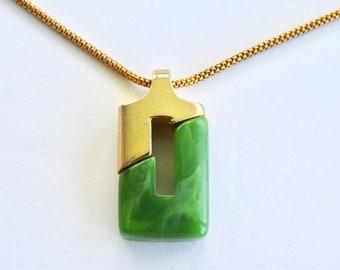 Modernist Lucite Necklace