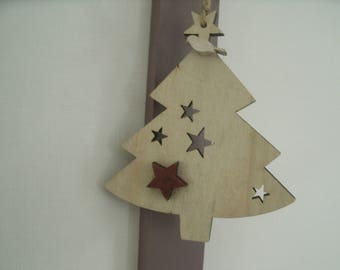 little tree with decorative wooden star