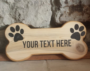Dog Sign, Pet Name Sign, Dog Bone Sign, signs, Wood Sign, Custom Sign, Name Sign, Wood Dog Bone, Cedar Sign, Gift Ideas, wall decor