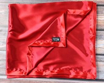 Satin blanket, Silk blanket, Red Blanket, women gift, red satin blanket, Baby Girl, Soft Blanket, silk woobie, soft blanket, sexy blanket