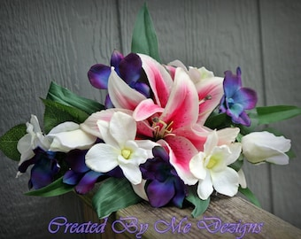 Silk/Real Touch mixed Wedding Flower Package 12 pieces custom made to order
