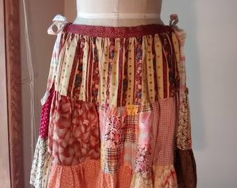 OOAK Boho Ragdoll Skirt