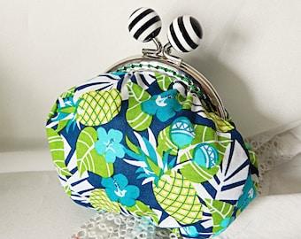 Retro tropical fabric purse