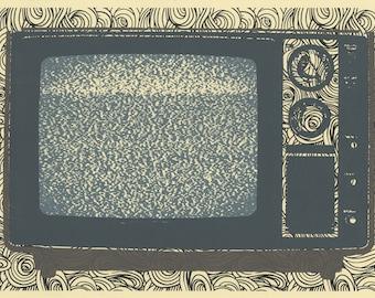 Static original silkscreen print