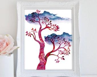 Tree Art Print, Instant Download, Abstract Tree Art, Modern Art, Printable Art