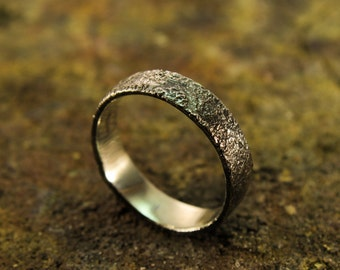 Sterling silver rough ring, rough texture, textured jewelry, industrial ring, men's rings, men's jewelry, gift for men, accessories for men