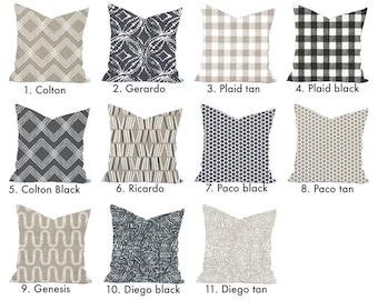 One high quality Magnolia home decor cover, Tan Pillow, decorative throw pillow, Black pillow, accent pillow,  Throw Pillow