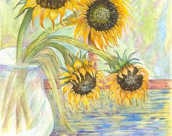 Sunflowers - Hotpress Giclee Print