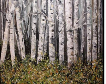 Birch Tree Forest fine Art Print