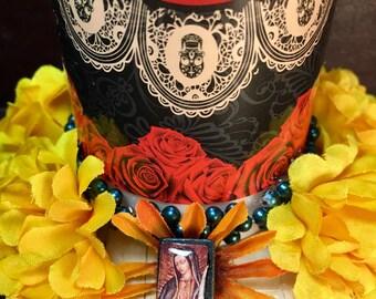 Day-of-the-Dead Vela Altar / Dia de los Muertos Candle Shrine / Folk Art Ofrenda Decoration / All Souls Day Home Decor