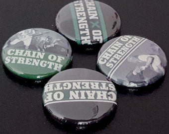 """4 Chain of Strength 1"""" Buttons/Badges/Pinbacks Hardcore Punk HXC Straightedge Retro Music Core Youthcore Metal"""