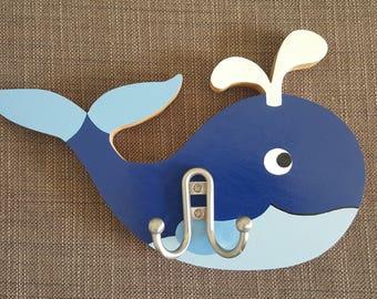Kids Wall Hanger Whale