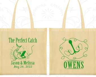 The Perfect Catch, Custom Canvas Tote, Fisherman Wedding Bags, Fishing Bags, Hunting Wedding Bags, Wedding Party Totes (532)
