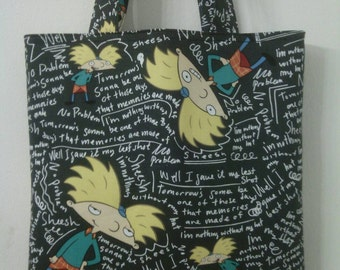 Hey Arnold! Inspired Tote, Book Bag