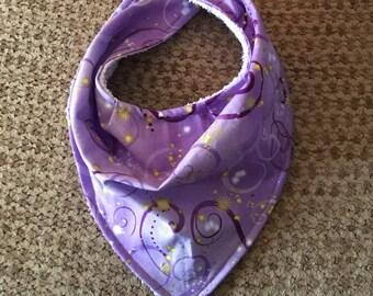 Purple Swirl Bandana Bib