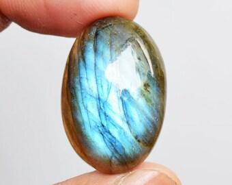 Gorgeous Natural Blue Flashy Fire Labradorite Cabochon, Jewellery Making Stone, Pendant Stone, Size 26x17x7 MM, Labradorite Suppliers, 11959