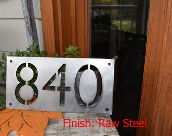 Metal Horizontal Home Address Sign| Personalized House Number Plaque | Address Plaque | Outdoor Sign| House Warming Gift | House Numbers