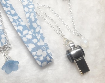 Liberty beautiful Silver whistle necklace