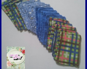 20 flannel wipes, cloth wipes, custom, choose, prints, flannel, reusable flannel wipes, cloth wipes, family cloth, baby wipes, starter set