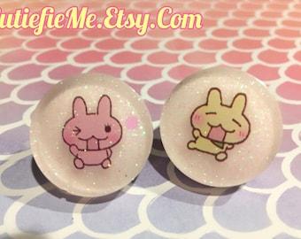 Kawaii Japanese Bunny Characters Stud Earrings