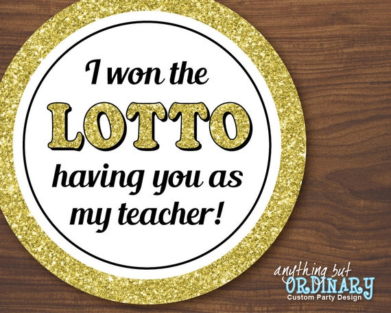 won the lotto gift tags printable favor labels for