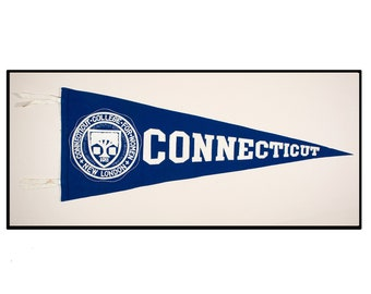 "Vintage Connecticut College pennant ""Circa 1950"""