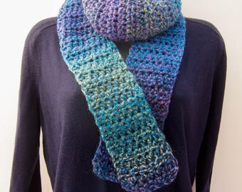 Multicolored Winter Scarf Crochet Warm Fall Fashion Accessory