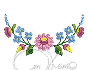 MACHINE EMBROIDERY DESIGN - Hungarian ornament, flower embroidery design, Floral ornament