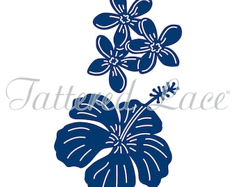 Tattered Lace Dies Tropical Flowers, TTLD0212 ~ RETIRED!