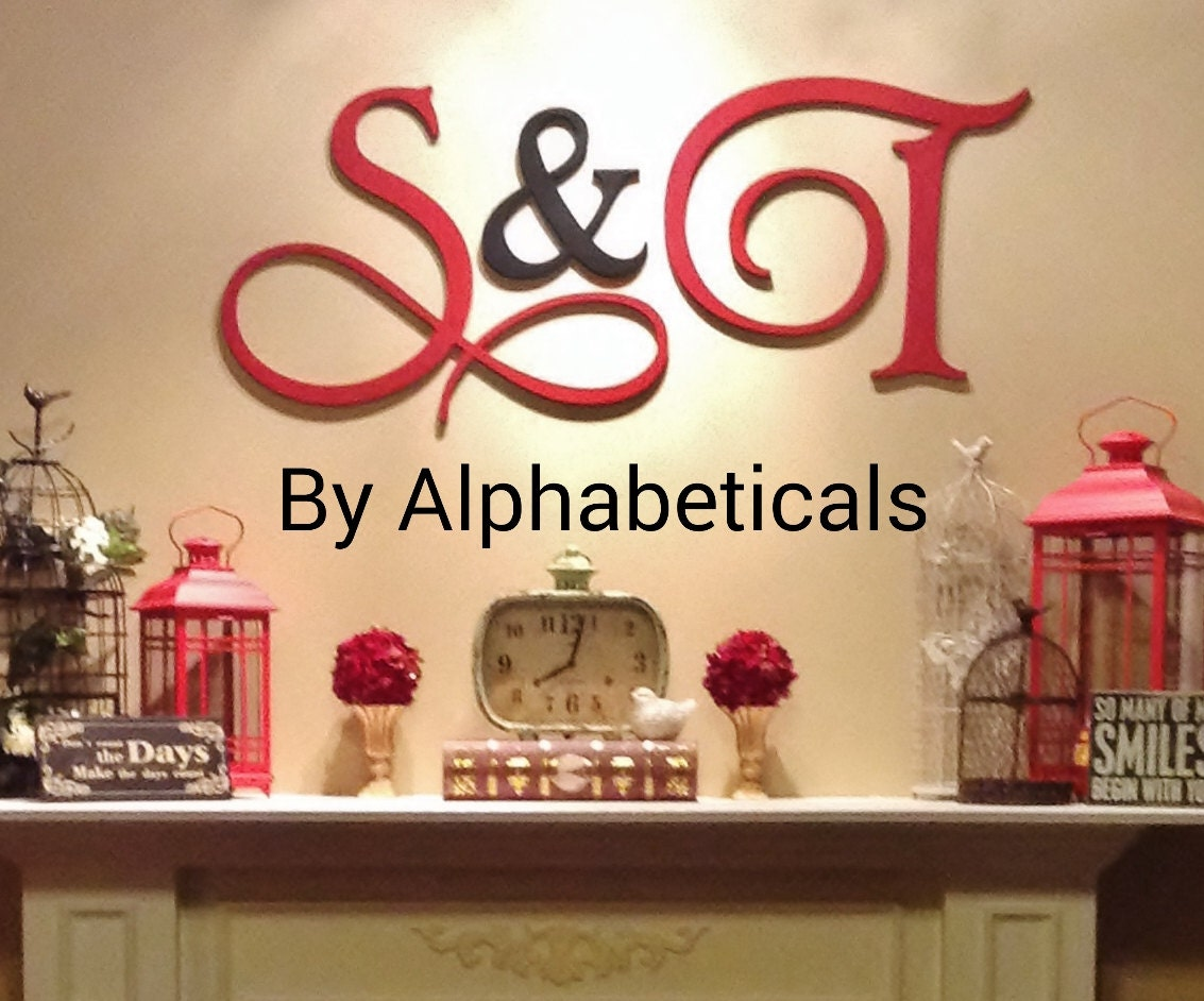 Cursive Wall Letters Wooden Letters Wall Letters Wooden Initials His And Hers