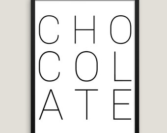 Schokolade-Molekül drucken. Schokolade print Schokolade Plakat