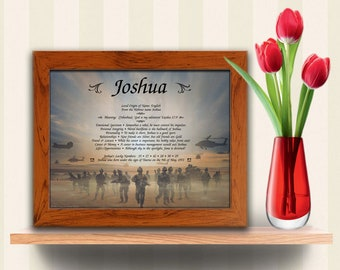 Armed Forces Personalized First Name Meaning Print - Gift for Mom - Gift for Dad - Gift for Son - Gift for Daughter - Military - Veteran