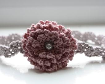 Vintage Elegant Flower Headband Crochet Pattern