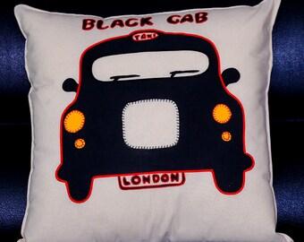 Handmade London Black Cab Cushion Cover