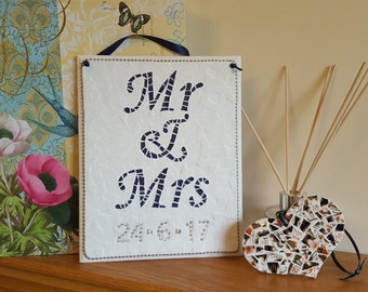 Personalised Wedding/Anniversary Gift Mr & Mrs