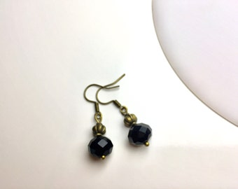 "Earrings bronze ""Black Stars"""