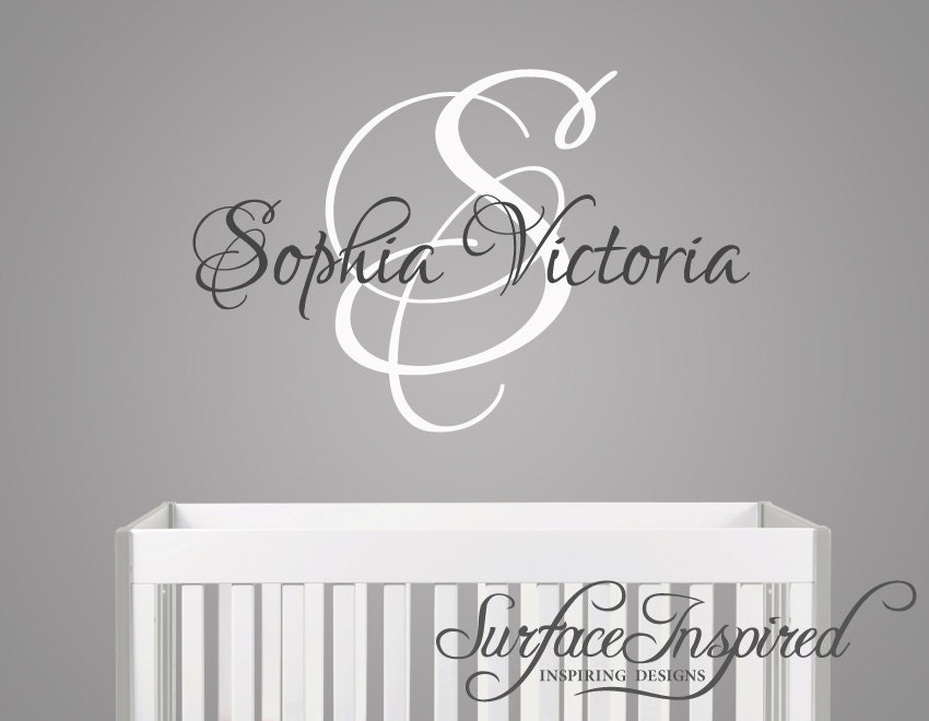 Nursery Wall Decals. Sophia Victoria Name Wall Decal For Boys
