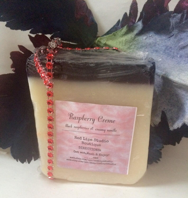 RASPBERRY CREME Soap Bar-Black Raspberries & Vanilla blend: Fruity ...