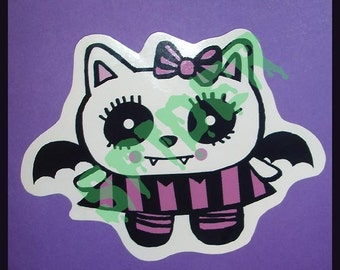 VampKitty Decal Gothic Sticker Cling Vampire Kitty Gothic Accessories