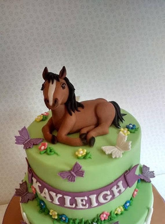 Horse cake topper cake decoration birthday cake edible cake