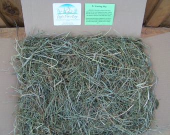 10 lb - 2nd Cutting Pet Hay!  PREMIUM Timothy/Orchard Grass/Clover HAY for Rabbits, Guinea Pigs, Chinchillas, Gerbils, Hamsters, Tortoise