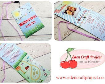 WEDstival Wedding Invitation Lanyard -  Festival Wedding - Outdoor Wedding - Countryside - Sample only