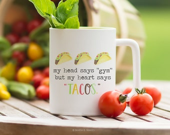 Coffee Mug with Sayings, Sarcastic Coffee Lover Gift, First Coffee, Funny Coffee Mug, Coffee Cup, Tacos, Gift for Her, Gift for him, Hungry