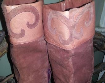 SALE ~!~ Rare Vintage 1960's Palmroth Finland Suede Boots sz 7