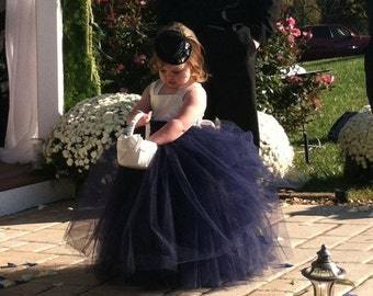 Navy Flower Girl Dress