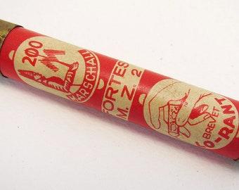 German Marschall Fortes MZ2 Nadeln Gramophone Needle Metal Tin Case Box Tube. Early 20th-Century. Antique/Vintage.